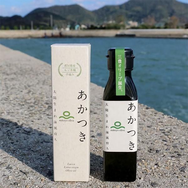 香川県 100%三豊産 エキストラバージンオリーブオイル「あかつきルッカ」100g