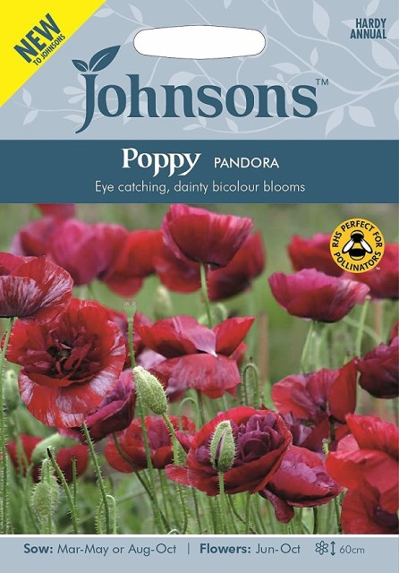 【輸入種子】Johnsons SeedsPoppy PANDORAポピー パンドラジョンソンズシード