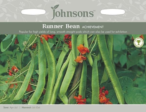 【輸入種子】Johnsons Seeds Runner Bean ACHIEVEMENT ランナー・ビーン アチーブメント ジョンソンズシード