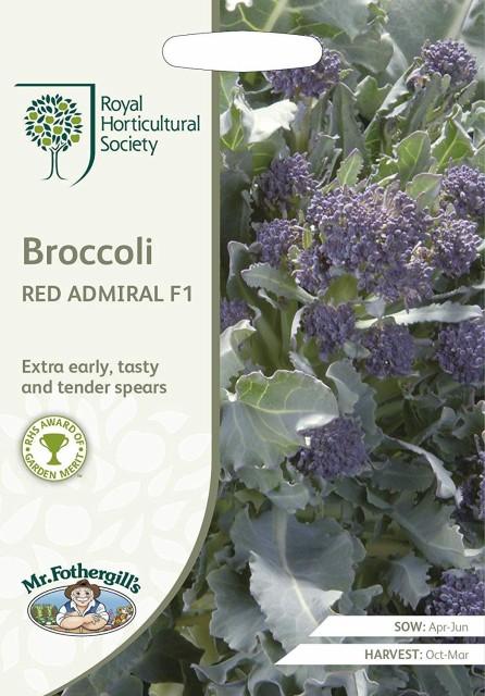 【輸入種子】 Mr.Fothergills Seeds Royal Horticultural Society Broccoli RED ADMIRAL F1 RHS ブロッコリー レッド・アドミラル F1 ミ