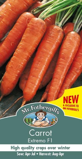 【輸入種子】 Mr.Fothergills Seeds Carrot Extremo F1 キャロット(人参) エクストリモ・F1 ミスター・フォザーギルズシード