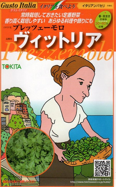 【種子】 Gusto Italia イタリアンパセリ プレッツェーモロ ヴィットリア トキタ種苗のタネ