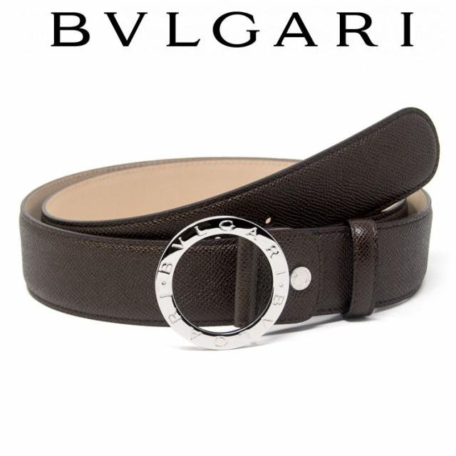 41840c9374be ブルガリ(Bvlgari). ブルガリ BVLGARI レザーベルト ブラウン メンズ ブランド 本革 ベルト