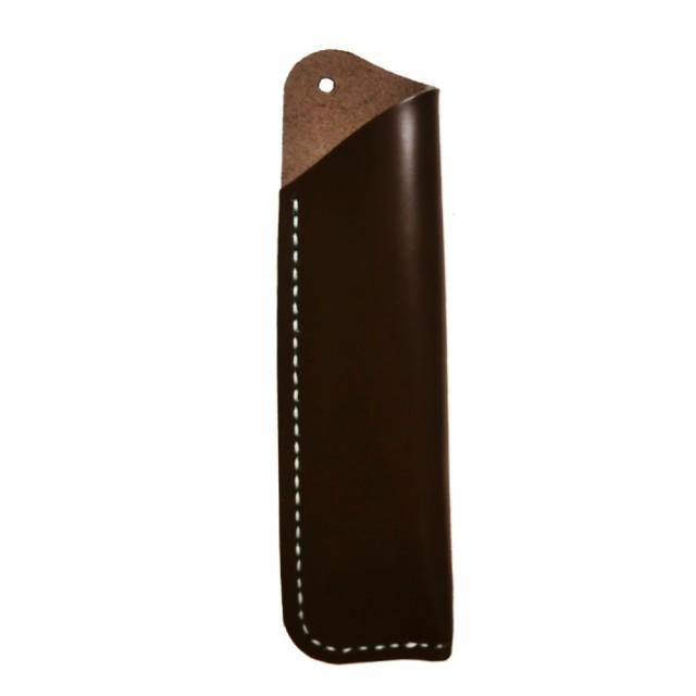 GuCra グクラ ペン入れ ペンホルダー ペンケース ナチュラルレザー 本皮製 万年筆やボールペンに最適 ダークブラウン