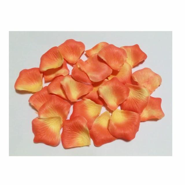 フラワーシャワー バラ 花びら 造花 720枚パック オレンジイエロー