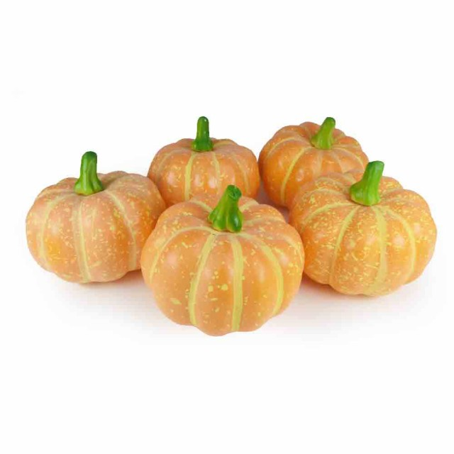 GuCra グクラ かぼちゃ ミニサイズ 南瓜 野菜模型 5個パック 食品サンプル (オレンジ-2) 製品寸法(1個あたり):約10x10x9cm 、