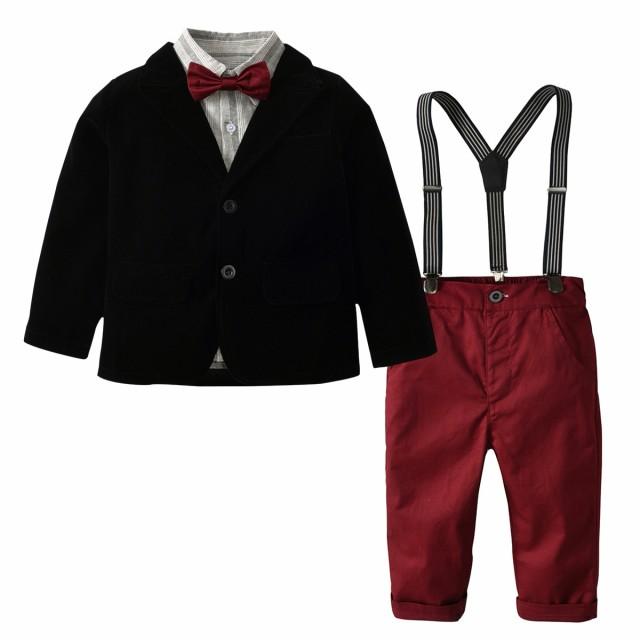 64d20bdb5878f フォーマルスーツ 子供服 ベビー服 赤ちゃん キッズスーツ 子供 男の子 3点セット 上下セット 長袖