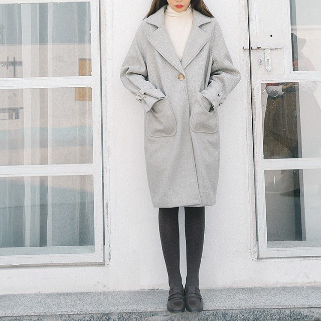 冬 オススメ 新作 コート ロングコート ロング丈 アウター ヘリンボーン ガウン ゆったり トレンド きれいめ hf00829