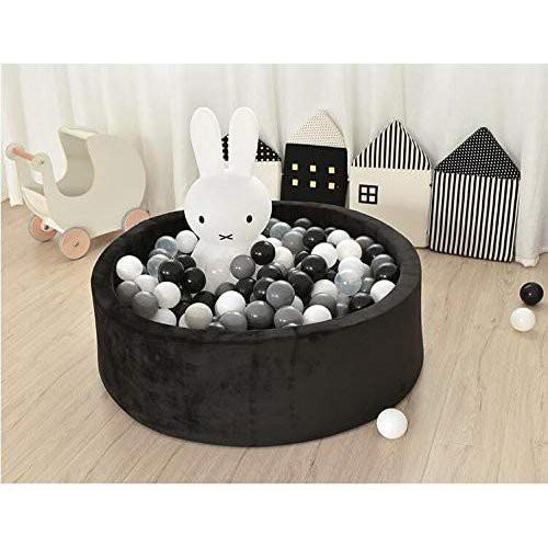 ボールプール ハウス キッズ 折りたたみ式 赤ちゃん 室内遊び ベビー クッション グレー 柔らかく 屋内屋外用 ブラック(プール本体のみ)