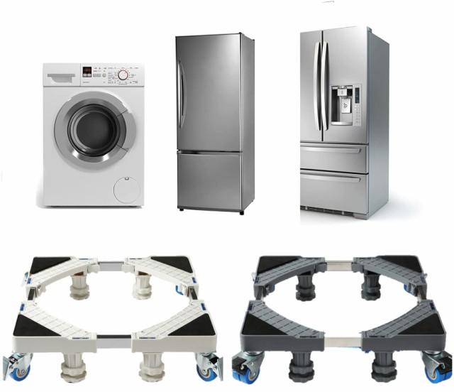 洗濯機 台 キャスター付 置き台 簡単設置 簡単組み立て 工具要らず 防水 洗濯パン かさ上げ 台車 台座 移動式 フットブレーキ付 滑り止め