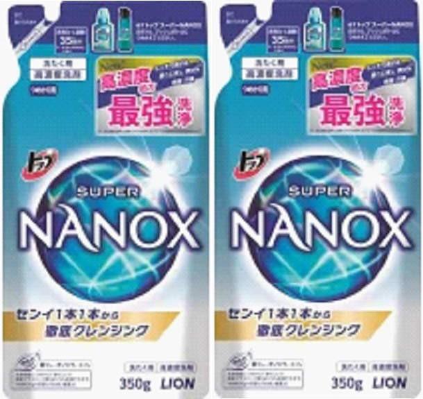 LION トップスーパーNANOX詰替用 350g x 2袋 /ライオン ナノックス