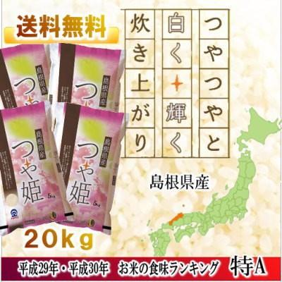 島根県産白米 つや姫 5kg/4袋セット(20kg)