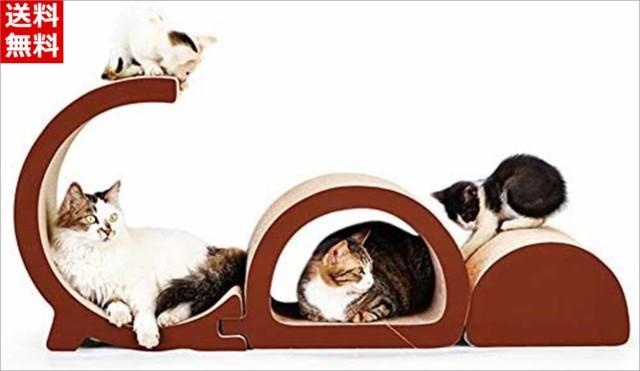 Aeon hum 爪とぎ 猫 つめとぎ 猫ベッド 猫の爪研ぎ 高密度段ボール 耐久性 ストレス解消 ペット用品 3点
