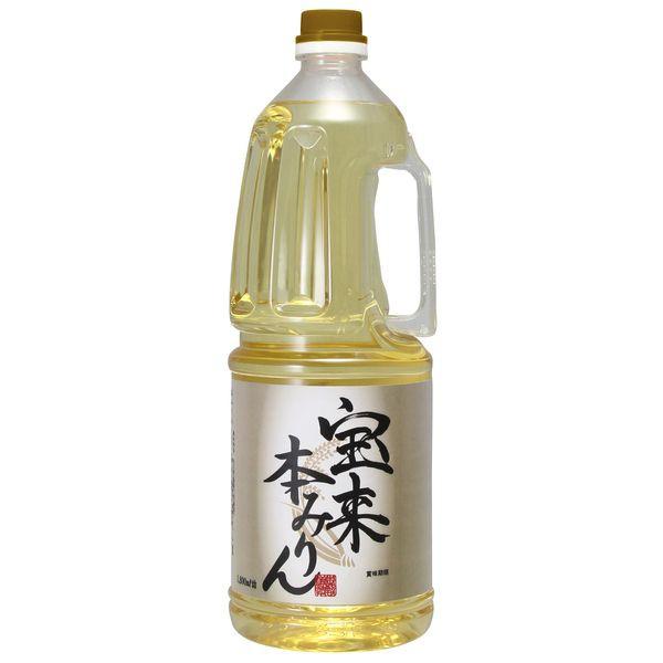 みりん 本みりん もち米 伝統製法 国産 宝来みりん 1800ml 大容量 味醂 ペットボトル コク 中野BC 長久庵