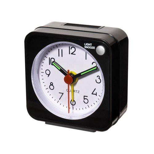 ミヨシ(MCO) トラベルミニクロック(目覚まし時計) MBZ-CLK01/BK