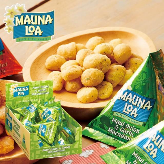 ハワイお土産 | マウナロア マカデミアナッツ オニオンガーリック ミニパック 1箱24袋入り【193031】