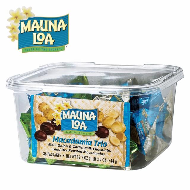 ハワイお土産 | マウナロア マカデミアトリオ ボリュームパック 1ケース36袋セット【193034】
