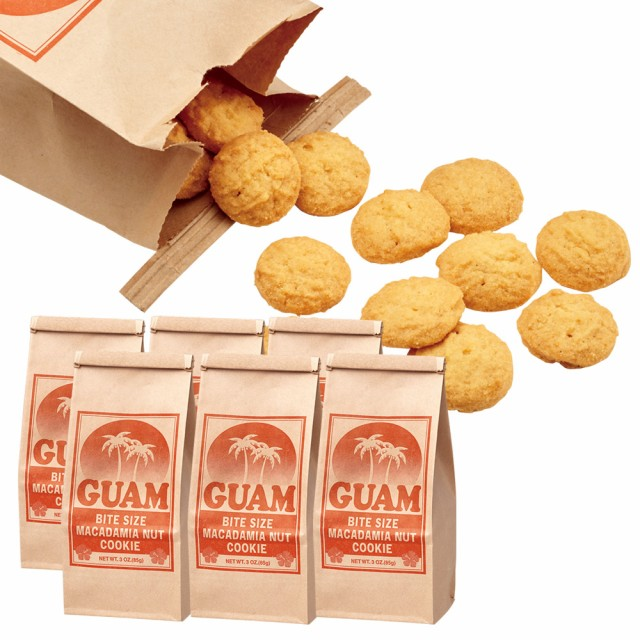 グアムお土産   グアム マカデミアナッツクッキー 6袋セット 【194090】