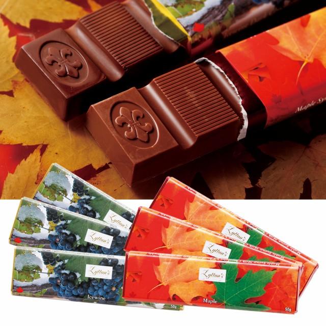 カナダお土産 | アイスワイン・メープルシロップチョコレートバー2種 6本セット【192068】