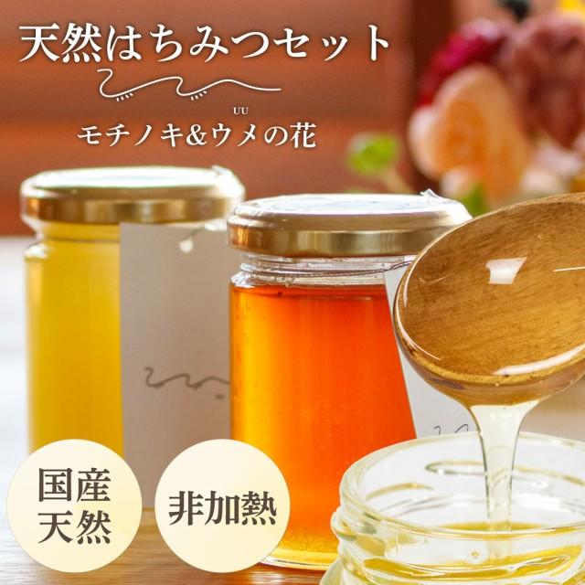 UU はちみつ食べ比べ2個セット(送料込)希少なニホンミツバチの蜂蜜 梅の花の 濃厚 天然はちみつ 国産 非加熱 純粋ハチミツ 日本製 ユー