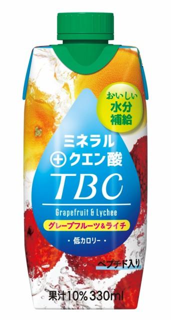 森永乳業 TBC ミネラル+クエン酸 グレープフルーツ&ライチ 330ml 12本 【送料無料】北海道、沖縄県、離島は別途送料を頂戴いたします。