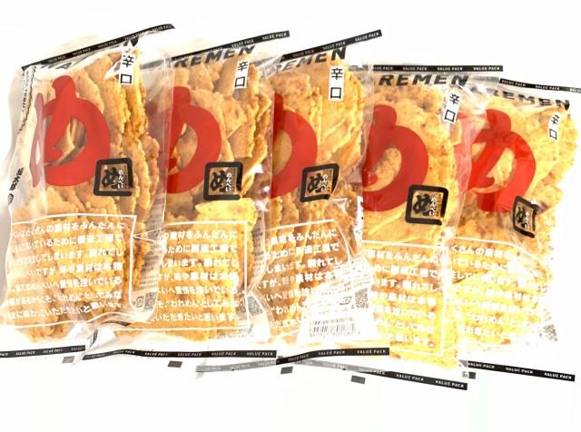【BIG SALE 最大1000円OFFクーポン ポイント最大45%還元】【5袋】めんべい 辛口 われめん お徳用 われせん アウトレット ギッシリ入った