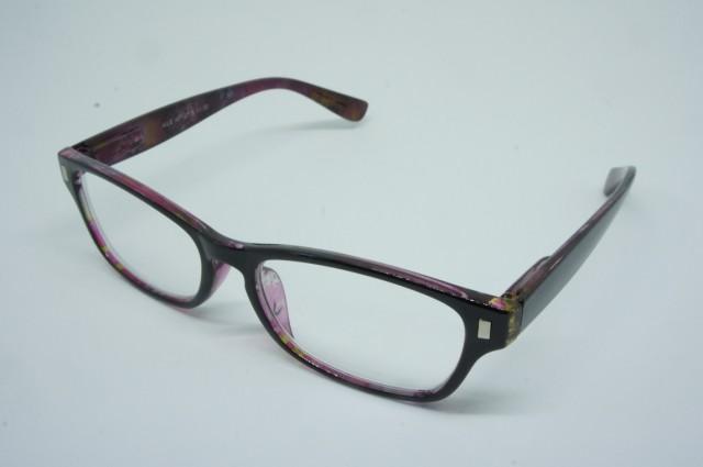 おしゃれシニアグラス(老眼鏡)男性用 ポリカーボネイト パープル 140×145×37mm AP127S 3.0度