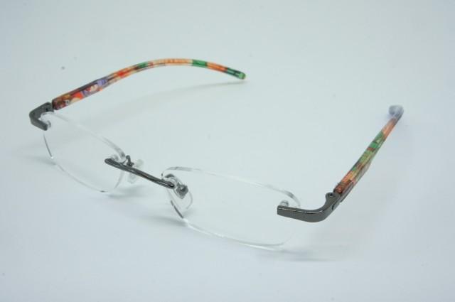 おしゃれシニアグラス(老眼鏡)女性用 ふちなしタイプ パープル 135×145×26mm AF102S 2.0度