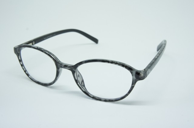 おしゃれシニアグラス(老眼鏡)ポリカーボネイトブラック 130×29×145mm AF128 3.0度