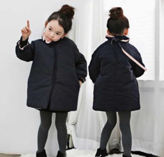d4fc669a1a444 コートアウター 女の子 冬服 ジャケット キッズ トップス 無地 、ジャンパー 中綿コート 厚手 防寒 子供