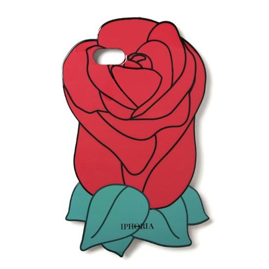 978e97b795 IPHORIA (アイフォリア) Rose Case Red iPhone7 / iPhone8 ケース