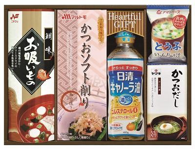 バラエティ食品セット お吸い物 鰹節 油 お味噌汁 だしの素 詰め合わせ ギフト