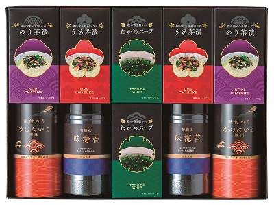 味海苔・お茶漬セット ゆかり屋本舗 味のり 味海苔 味付海苔 お茶漬け スープ 詰め合わせ ギフト