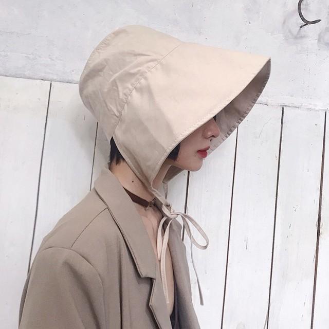 f5d052b9671a14 帽子 つば広 ハット レディース つば広帽子 UVカット サンバイザー フランス風 紐付き 紫外線