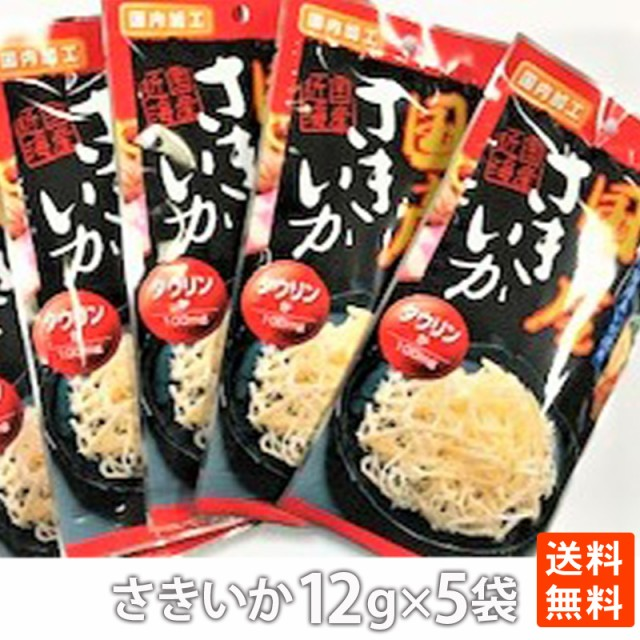ポイント消化 小島食品 国産さきいか12g×5袋 送料無料 メール便