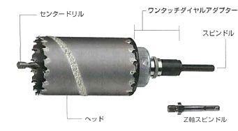【ハウスビーエム】ハウスBM ドラゴンリョーバコアドリル DRHタイプ ヘッド DRH-80