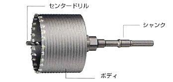 【ハウスビーエム】ハウスBM ヒューム管コアドリル HMBタイプ ボディ HMB-170