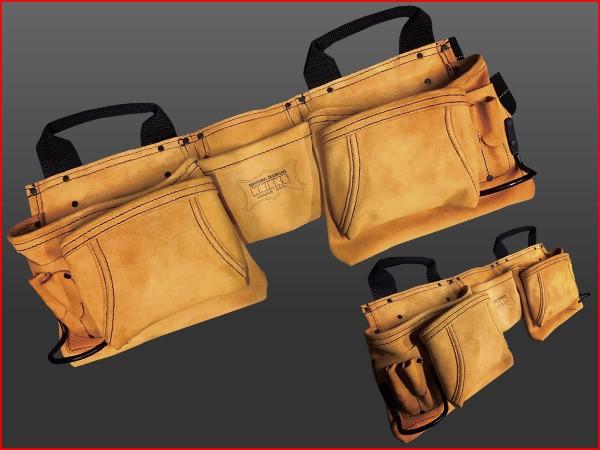 ニックス 最高級2×2ポケットレザー ツールバック釘袋〈ベルト一体型〉 KCA-9504