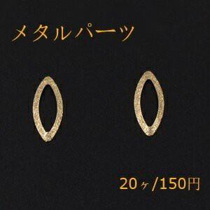 メタルパーツ プレート スクラブ ホースアイフレーム 穴なし 9×21mm ゴールド【20ヶ】