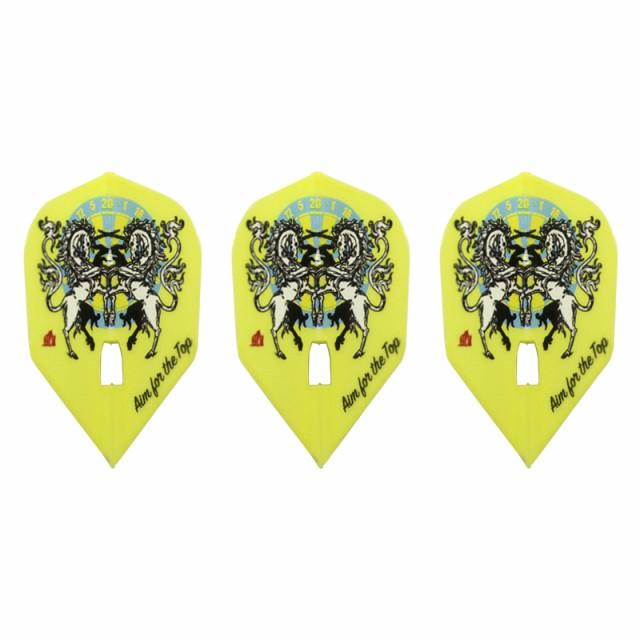 ダーツ フライト L-Flight 【エルフライト】 柴田豊和 ver.1 PRO シェイプ イエロー (L3c Shape Yellow)