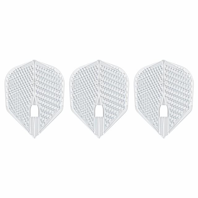 ダーツ フライト L-Flight 【エルフライト】 ディンプル シェイプ クリア ビー (dimple L3d Shape Clear B) | シャンパンリング対応