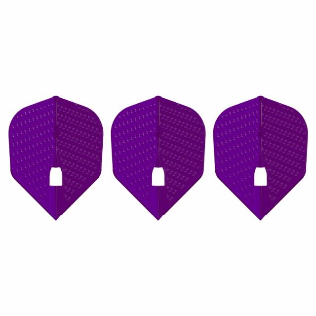 ダーツ フライト L-Flight 【エルフライト】 ディンプル シェイプ ディープパープル (dimple L3d Shape Deep Purple) | シャンパンリング