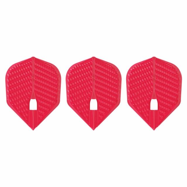 ダーツ フライト L-Flight 【エルフライト】 ディンプル シェイプ レッド (dimple L3d Shape Red) | シャンパンリング対応