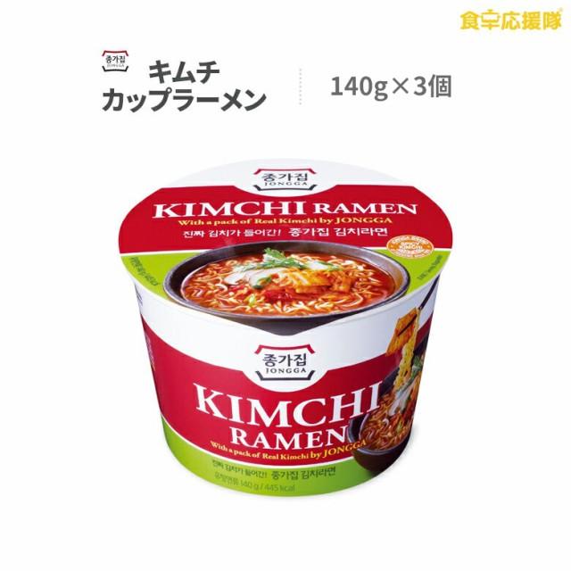 【送料無料】宗家 キムチラーメン 大盛カップラーメン 140g×3個 KIMCHI RAMEN