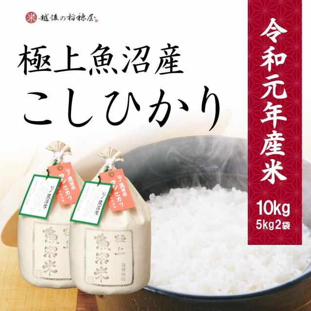 米 極上魚沼産コシヒカリ 10kg お米 特A 新潟県産 こしひかり ギフト 送料無料 令和元年産