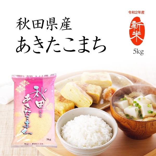 新米 5kg あきたこまち 秋田県産 お米 令和2年産米 精米 白米