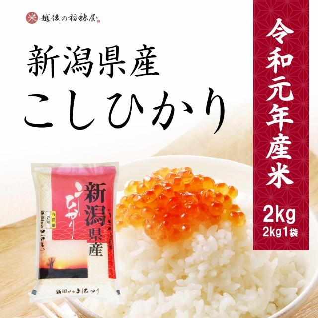 米 新潟県産コシヒカリ 2kg お米 こしひかり 令和元年産