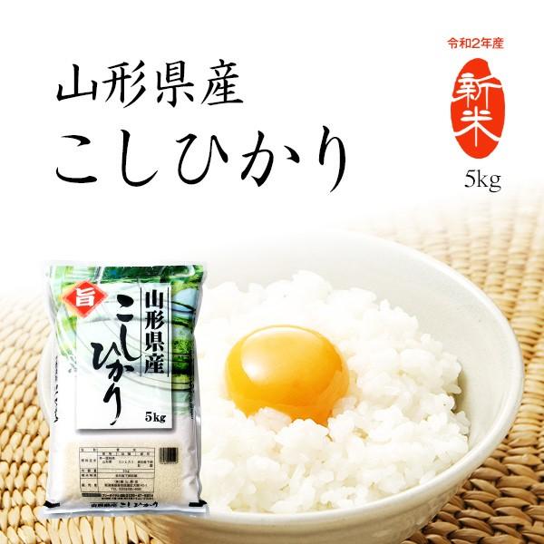 米 5kg コシヒカリ 山形県産 お米 5kg 送料無料 令和2年産米 精米 白米