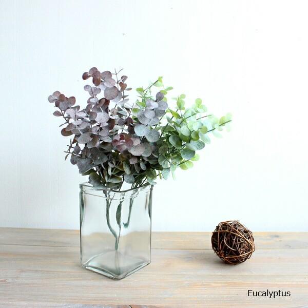 ユーカリブッシュ 造花 インテリア 未触媒 フェイクグリーン フェイクフラワー