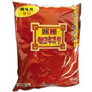 韓国食品*韓国食材/キムチ材料★大山 調味用とうがらし粉(甘口)1Kg
